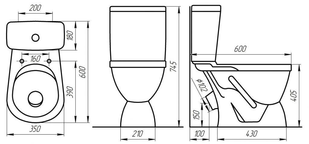 Угловой унитаз с бачком: установка углового унитаза с бачком в комплекте в углу ванной, как установить унитаз по диагонали в угол, размеры с угловым выпуском