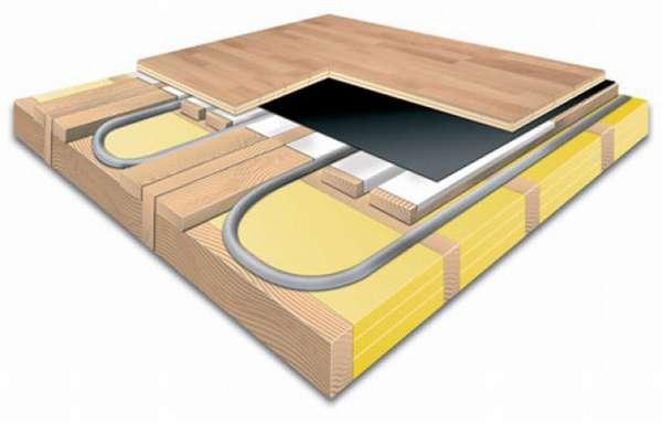Водяной теплый пол на деревянный пол: по деревянным лагам и реечный варианты