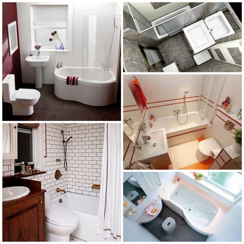 Маленькая ванная комната - 50 идей