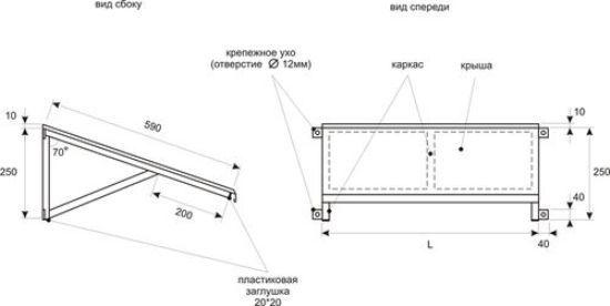 Козырек для кондиционера: особенности изготовления и установки защитного навеса своими руками