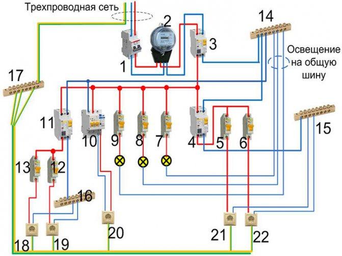 Подключение узо и автомата схема 380 в - всё о электрике в доме