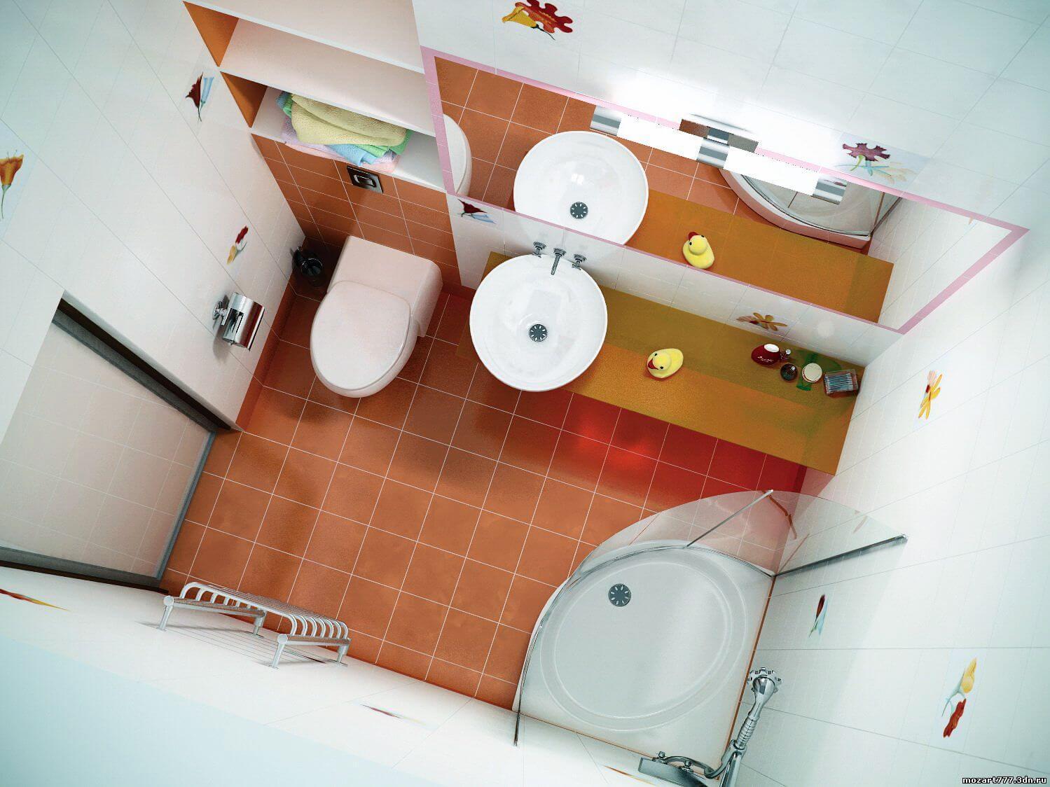Дизайн маленькой ванной комнаты - лучшие идеи интерьера + фото