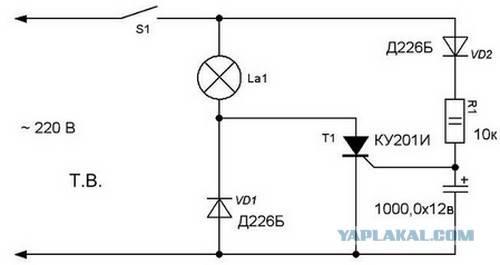 Как плавно включать лампы накаливания 220: диммеры плавного включения
