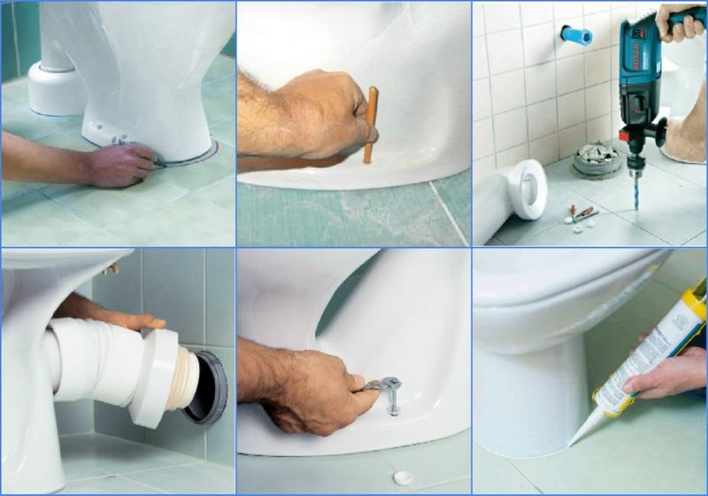 Установка унитаза своими руками – детальная инструкция для разных видов унитазов