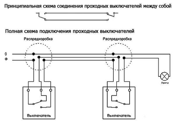 Выключатель проходной: схема подключения - советы и рекомендации