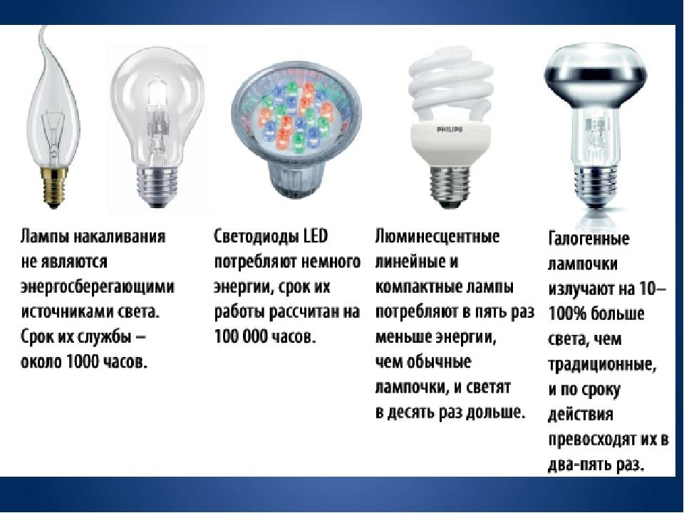 Виды лампочек и типы цоколей - как выбрать лампочку
