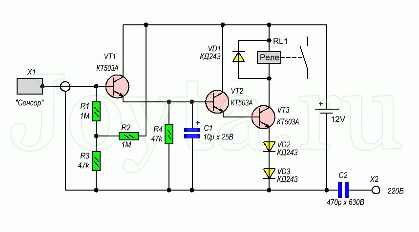 Сенсорный выключатель: схемы подключения, устройство и принцип работы