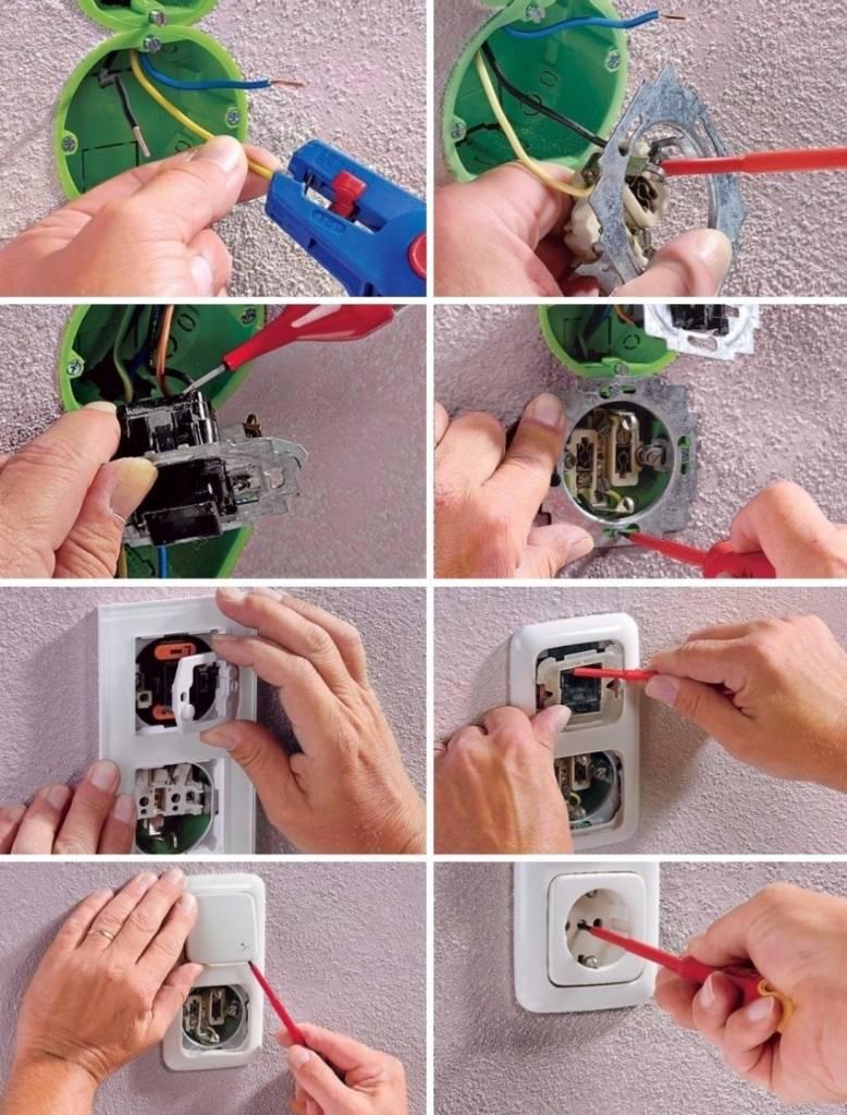 Как установить и подключить розетку: пошаговый инструктаж