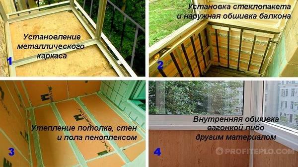 Утепление лоджии и балкона своими руками