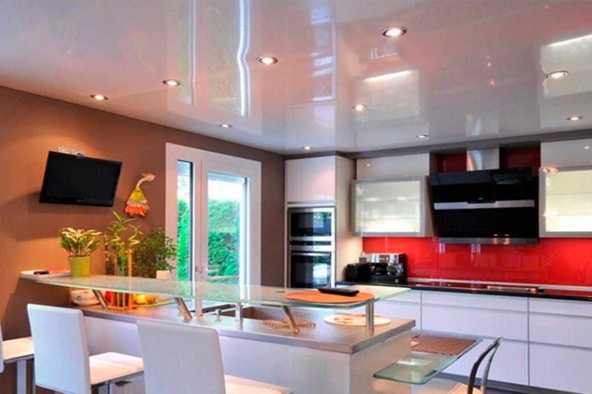 Натяжные потолки: можно ли делать на кухне, виды, отзывы, недостатки, проблемы, фото 2015-2016, современные идеи дизайна » интер-ер.ру