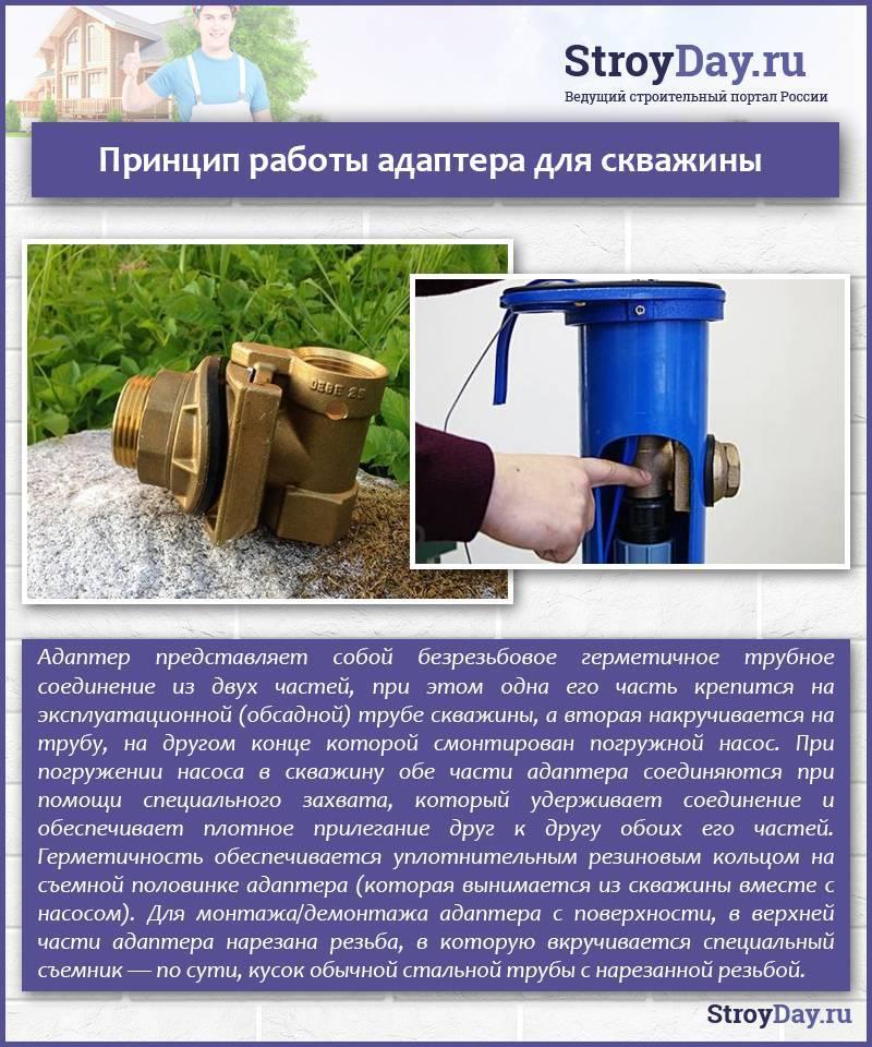 Скважинный адаптер своими руками: устройство и монтаж - vodatyt.ru