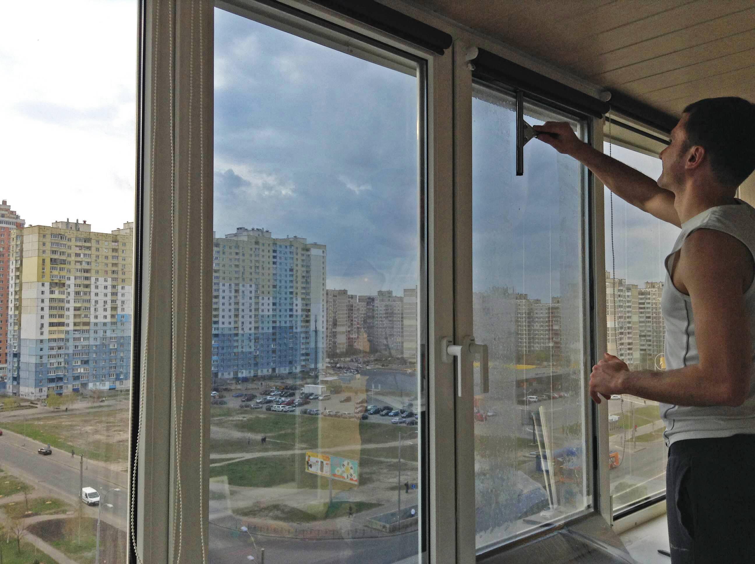 Тонировка окон в квартире   а за окном