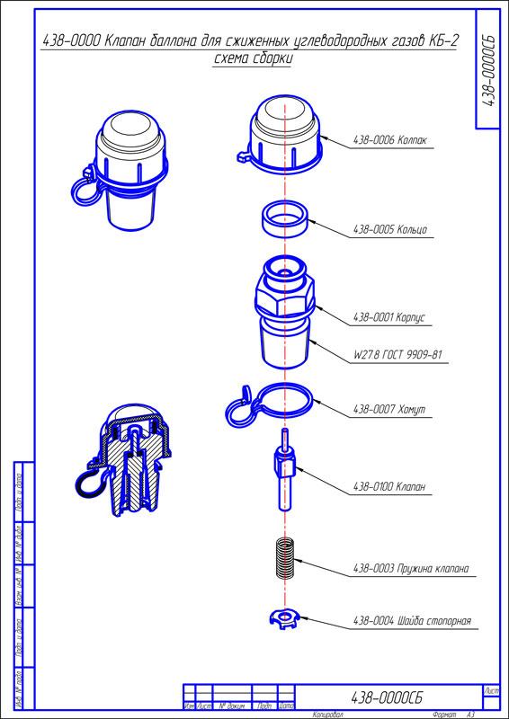 Устройство вентилей для газовых баллонов и способы их замены