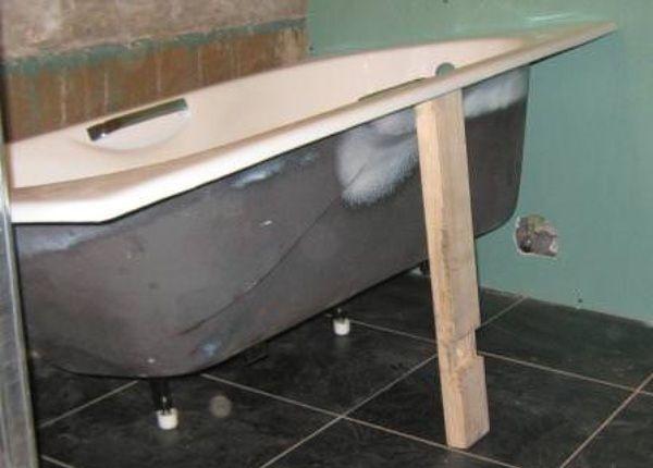 Как установить чугунную ванну своими руками: инструкция монтажа