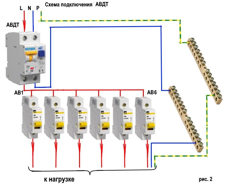 Схема подключения однофазного узо без заземления