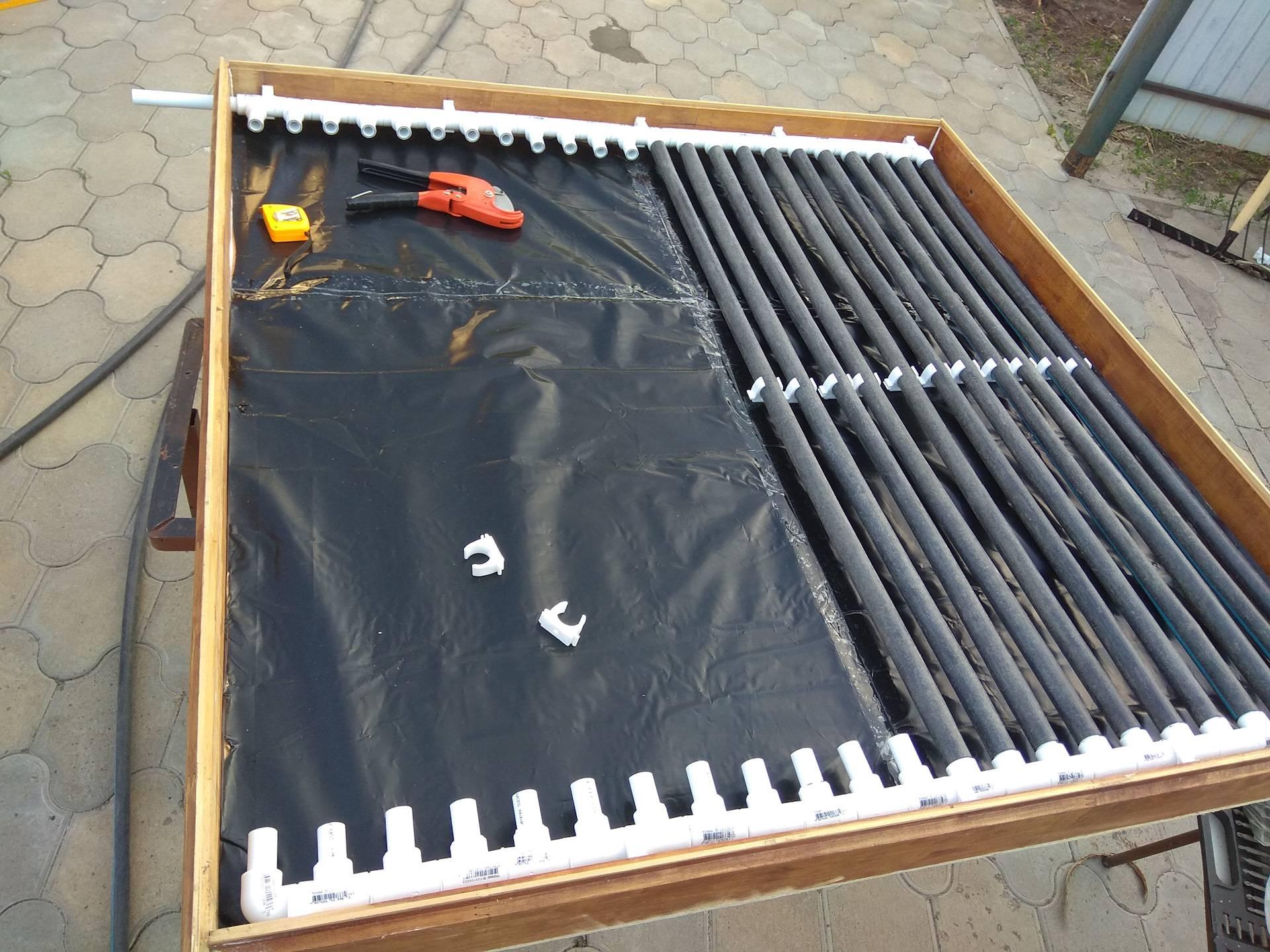 Отопление дома солнечным коллектором, изготовленным своими руками