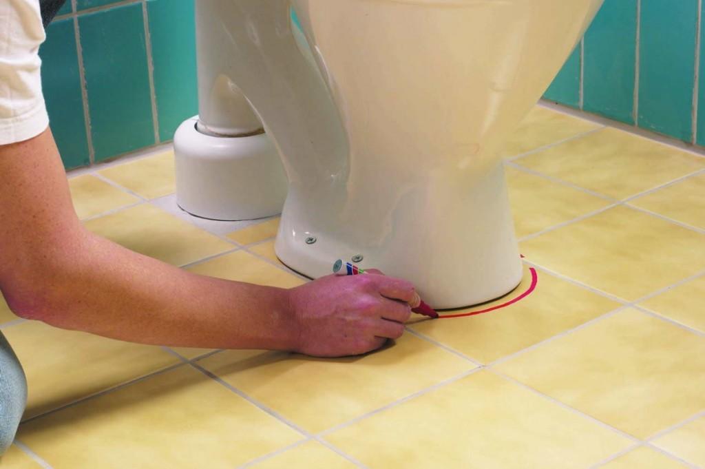 Установка унитаза на кафельный пол - все о канализации