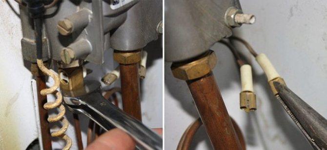 Как запаять течь в теплообменнике и медных трубках газовой колонки паяльником