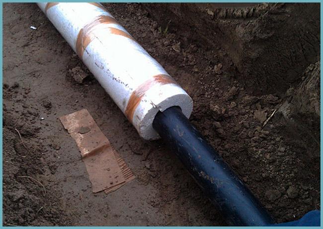 Утепление водопровода в частном доме своими руками - выбор материала и способа утепления