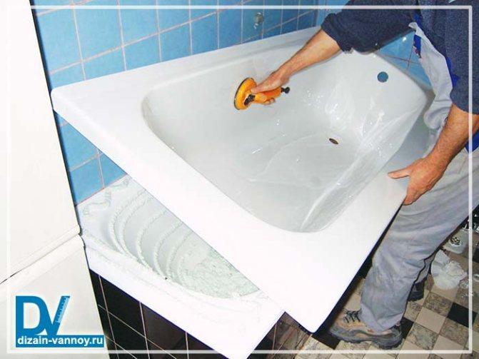 Как устанавливается акриловая вставка в ванну: инструкция по установке вкладыша