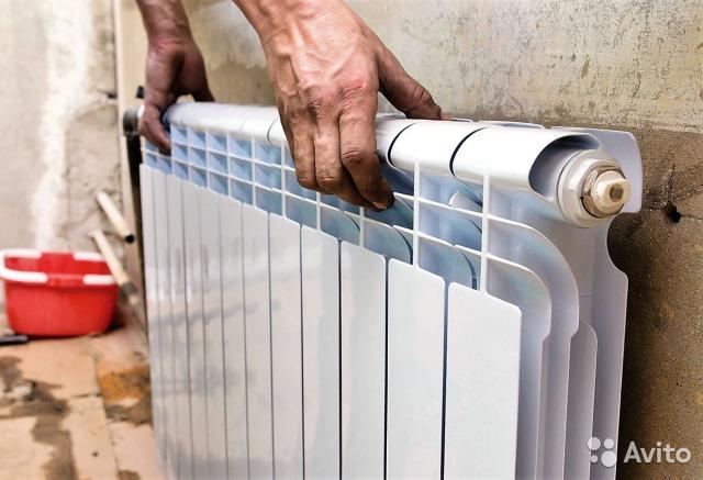 Замена радиатора отопления (1 из 3)