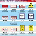 Какие на предприятии должны применяться плакаты и знаки безопасности в электроустановках?
