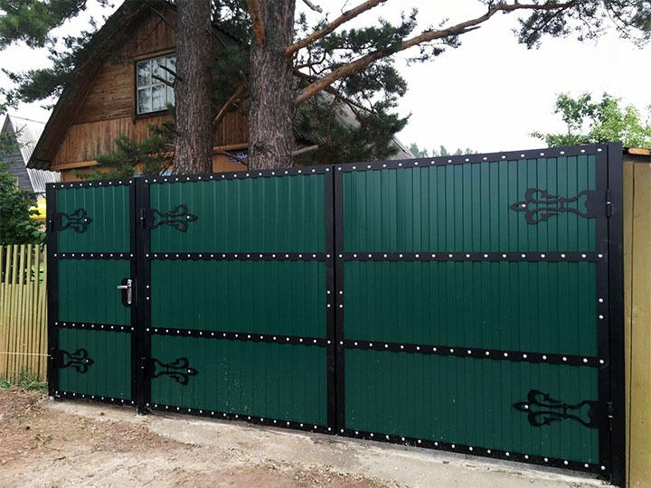 Виды современных, простых и красивых ворот для частного дома