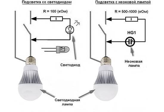 Светодиодная лампа светится после выключения: причины, устранение