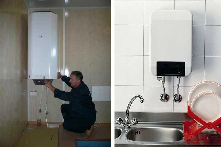 Проточно-накопительный водонагреватель: электрический бойлер, нагреватель объемом 15 и 30 литров для дачи
