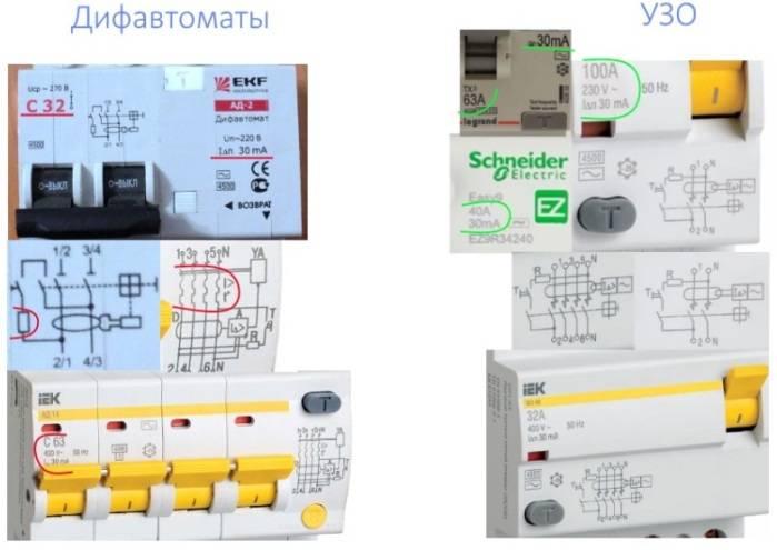 В чем разница: дифавтомат и устройство защитного отключения и принцип работы приборов