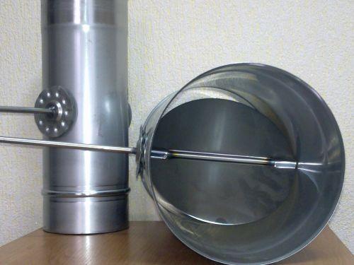 Шибер для дымохода: как сделать заслонку для трубы