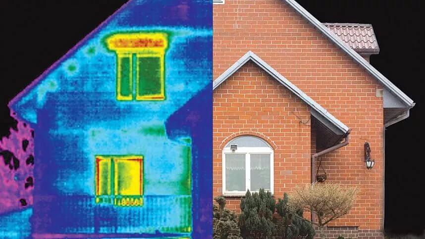 Тепловизор для строительства: как делать обследование тепловизором дома