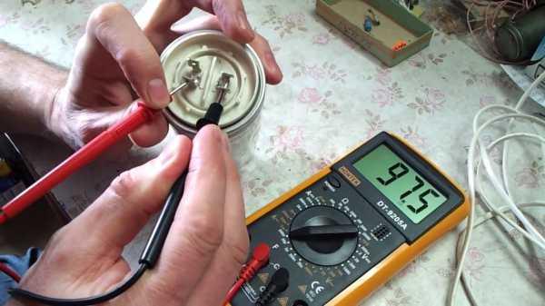Виды конденсаторов их работа, проверка работоспособности и прозвон мультиметром и тестером