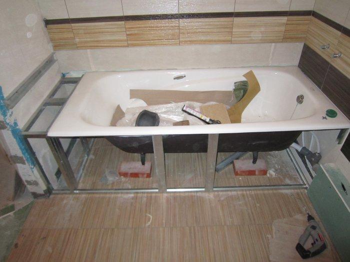 Установка стальной ванны своими руками — инструменты и монтажа (видео, фото)