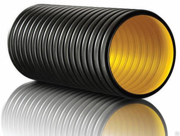 Гофрированная труба для канализации: двухслойная канализационная труба для наружной канализации, гофра труба пластиковая