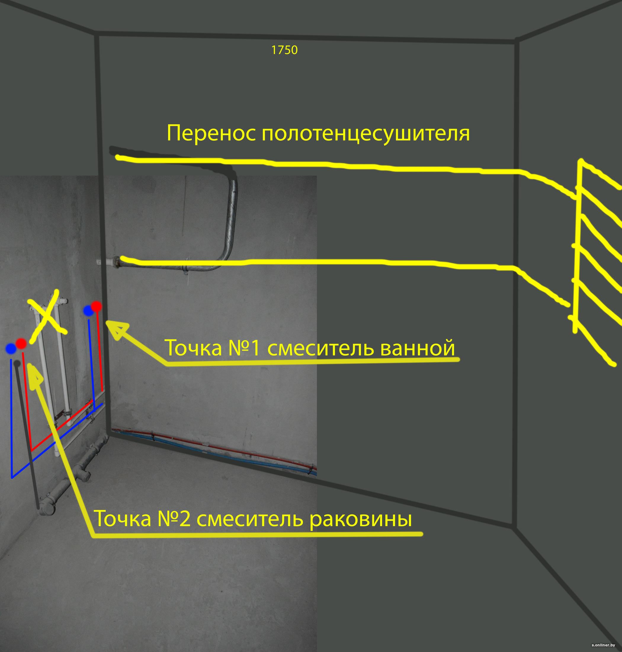 Перенос полотенцесушителя в ванной на другую стену (видео)
