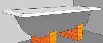 Установка ванны на кирпичи: технология монтажа своими руками | ремонт и дизайн ванной комнаты