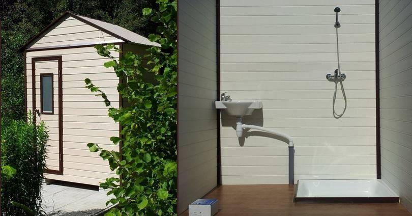 Летний душ — варианты исполнения и материалы