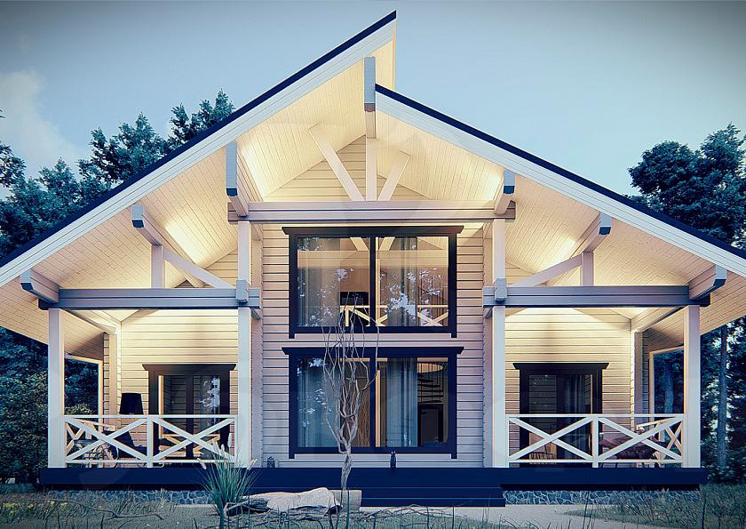 Оригинальное решение: комбинированный дом