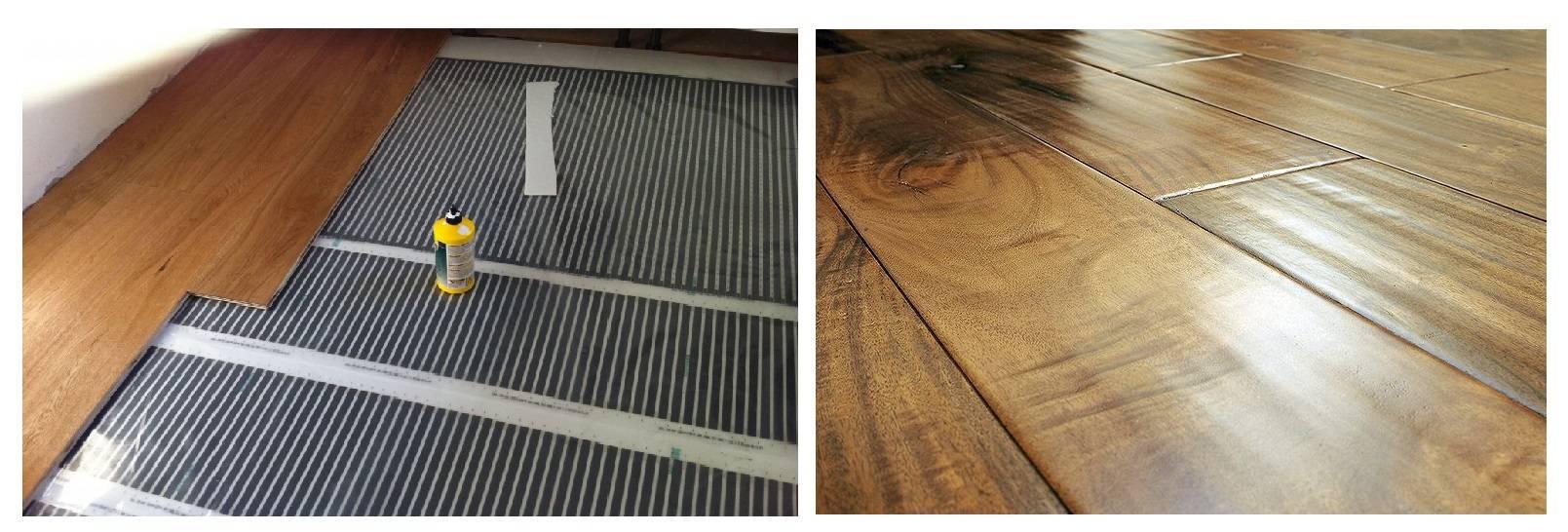 Электрический теплый пол под ламинат: какой лучше, монтаж и подключение