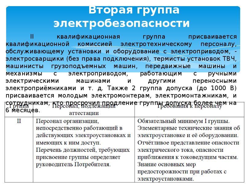 5 группа допуска по электробезопасности: кому и при каких условиях присваивается, порядок присвоения пятой категории персоналу