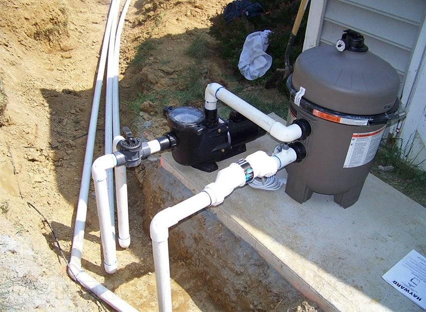 Подключение песочного фильтра к бассейну: схема установки, как правильно подключить песчаное устройство фильтрации к насосу?