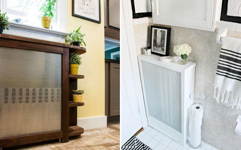 Как и чем закрыть радиаторы отопления: 100 фото интересных идей