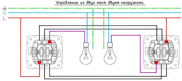 Схемы подключения выключателей шнайдер