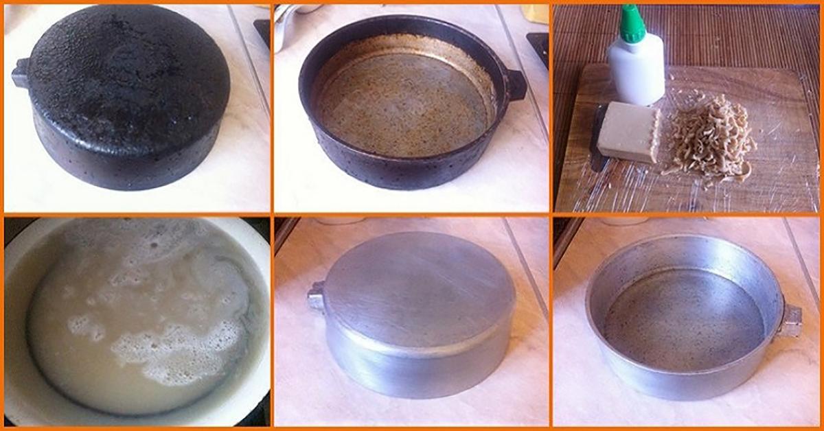 Как очистить от многолетнего нагара чугунную сковороду