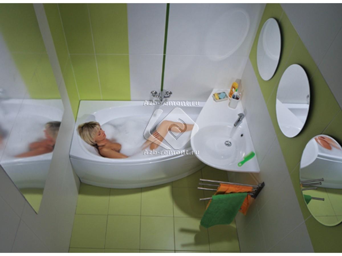 Какую в маленькую ванную комнату выбрать плитку