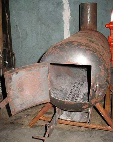 Изготовление печей из газового баллона своими руками