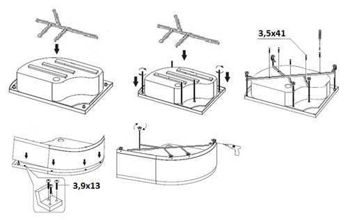 Монтаж душевой кабины своими руками: фото, видео