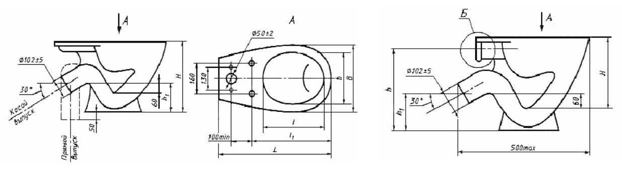 Размеры рамы для инсталляции унитаза