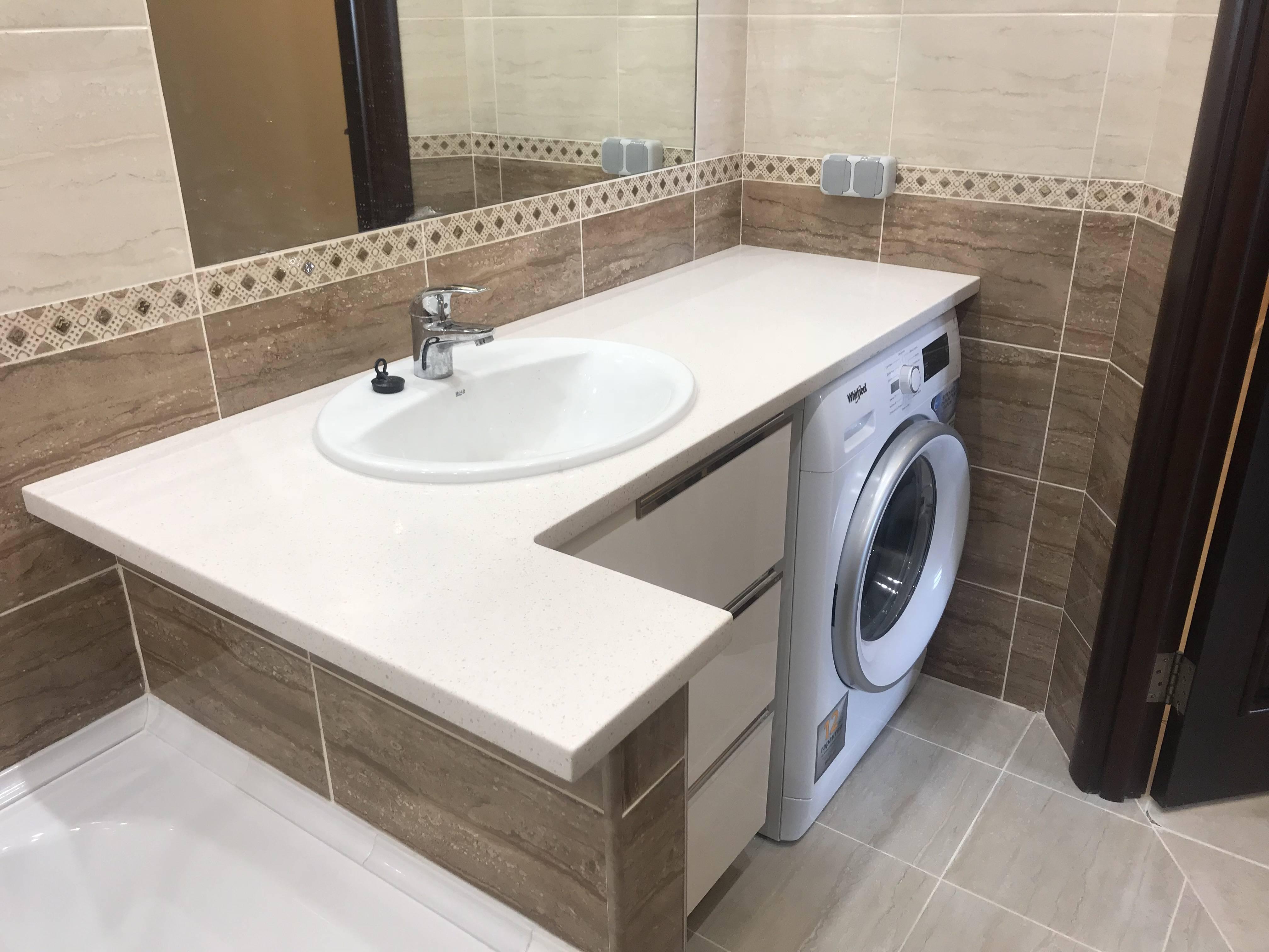 Деревянная столешница под раковину в ванную: инструкция по самостоятельному изготовлению